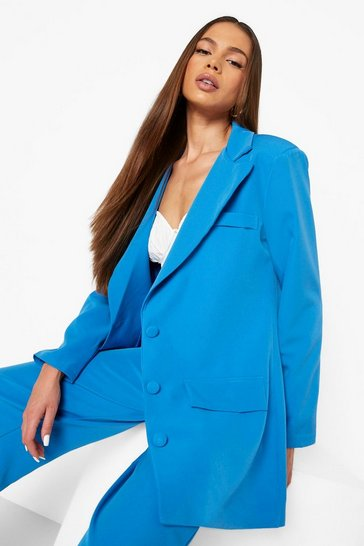 Azure blue Tailored Relaxed Fit Blazer