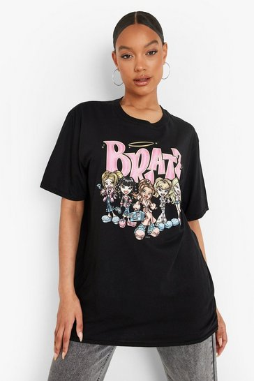 Black Bratz License Print Oversized T-Shirt