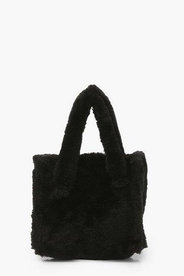 Black Mini Teddy Tote Grab Bag