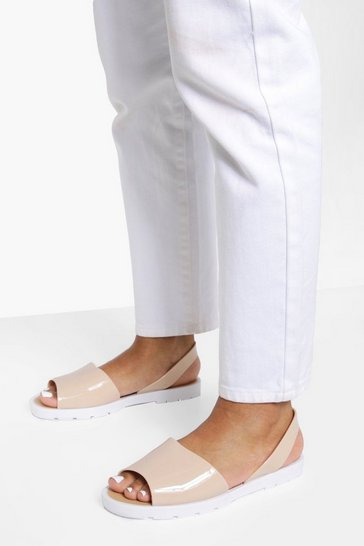 Nude Jelly 2 Part Sandals