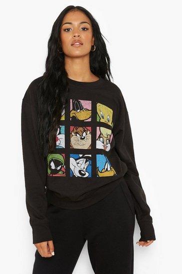 Black Tall Looney Tunes Licensed Sweatshirt
