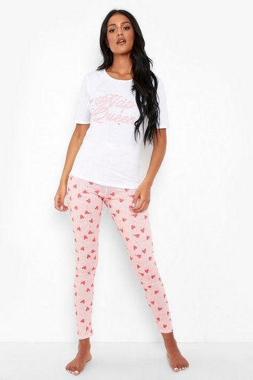 Pink Tall 'Nap Queen' Slogan Pj Set