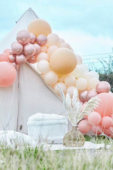 Pink Ginger Ray Rose Gold And Nude Balloon Arch