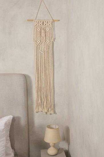 Cream white Macrame Wall Hanging