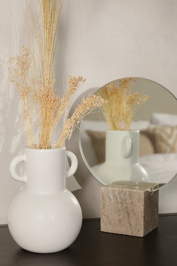White Small Amphora Vase