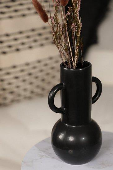 Large Black Amphora Vase