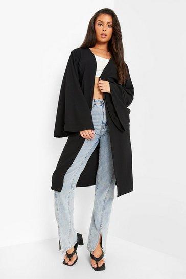 Black Wide Sleeve Kimono