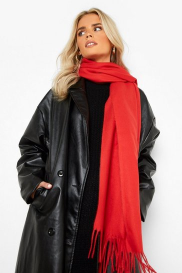 Red Basic Light Weight Scarf