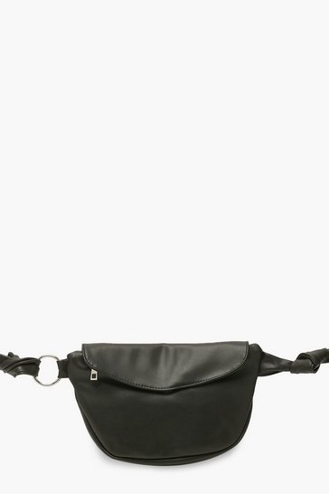 Black Oversized Bum Bag