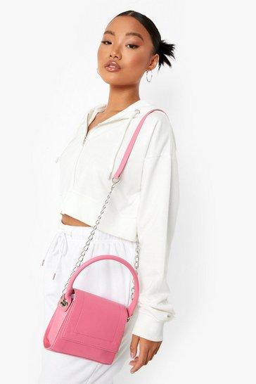 Fuchsia pink Chain Strap Mini Bag