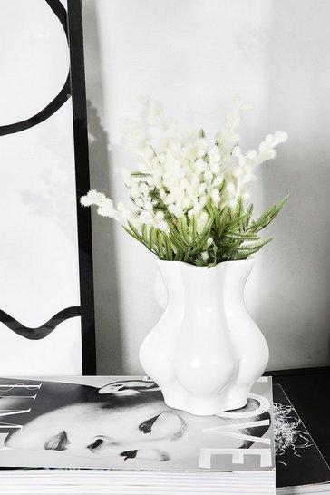 White Small Booty Vase