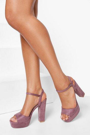 Mauve purple Chunky Platform 2 Part Sandal