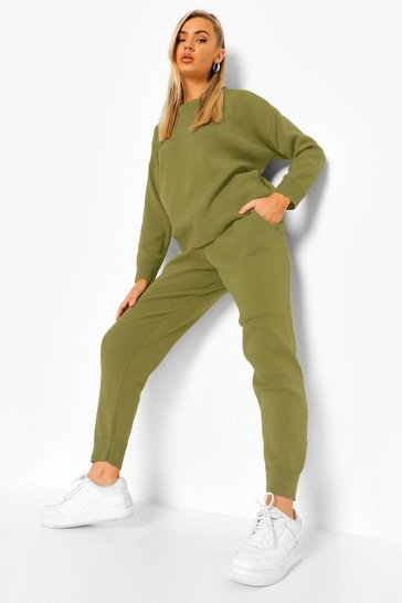 Khaki Knitted Tracksuit