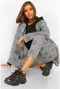 Black Checked Oversized Tailored Blazer And Trouser