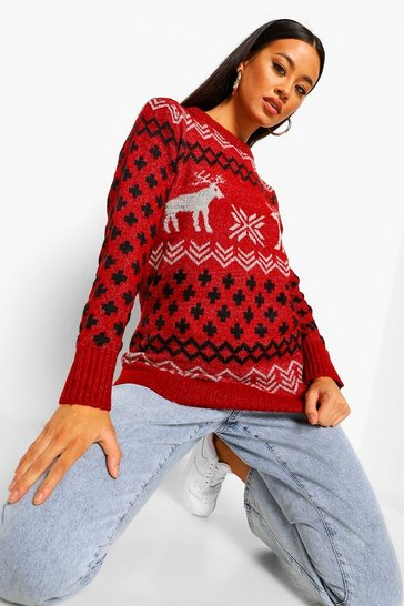 Red Fairisle Christmas Jumper