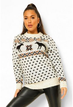 White Fairisle Christmas Jumper