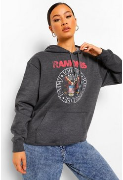 Charcoal grey Ramones Print License Hoodie
