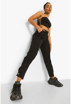 Black Balloon Leg Trouser