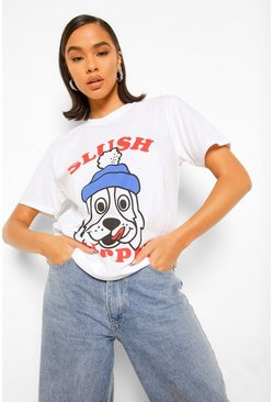 White Slush Puppie License Print T-Shirt
