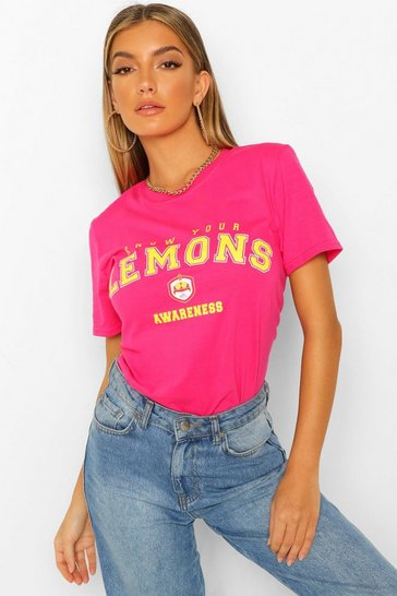 Pink Know Your Lemons Charity T-shirt