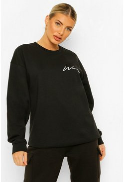 Black Woman Sweater Met Tekst