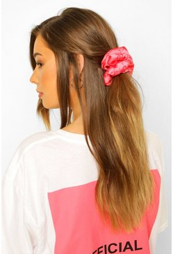 Pink B Super Soft Satin Scrunchie