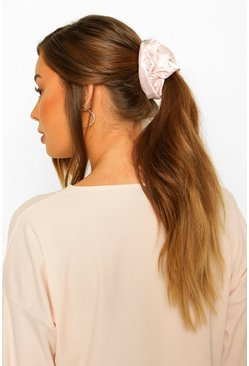 Pink Star And Moon Satin Hair Protect Scrunchie