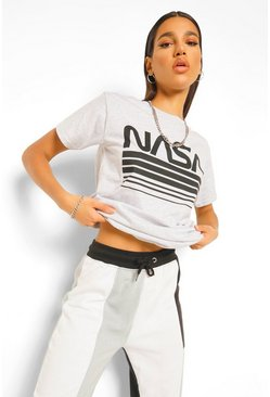 Grey marl NASA License T-Shirt
