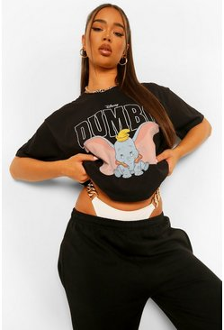 Black Dumbo Disney License T-Shirt