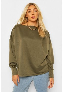 Khaki Pleated Sweatshirt