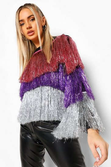Purple Ombre Tinsel Jumper