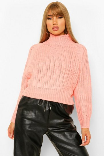 Pink Chunky Fisherman Jumper