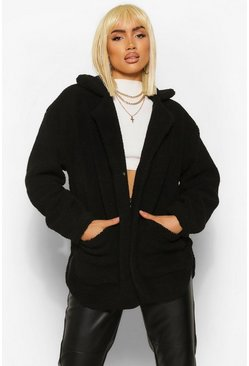 Black Teddy Faux Fur Shacket