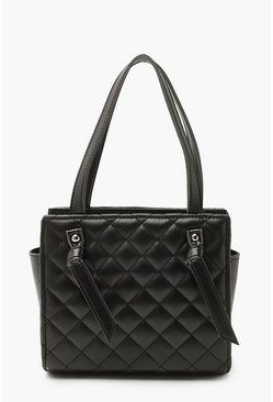 Black Diamond Quilt Mini Tote Bag
