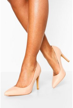 Nude Pointed Toe Courts