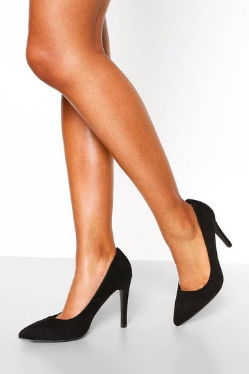 Black Pointed Toe Courts