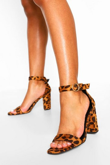 Leopard multi Block Heel Two Parts