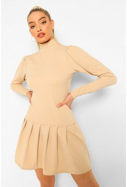 Stone beige Tennis Skirt Dress