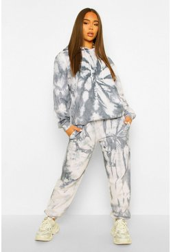 Charcoal Tie Dye Printed Tracksuit