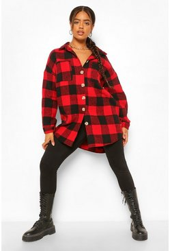 Red Brushed Check Shirt