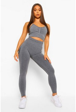 Seamfree Marl Sports Bra and Leggings Set