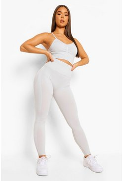 Light grey Seamfree Marl Gym Leggings