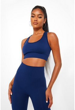 Cobalt Basic Seamfree Sports Bra