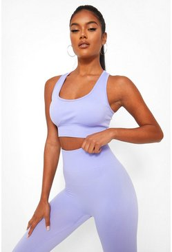 Lilac Basic Seamfree Sports Bra