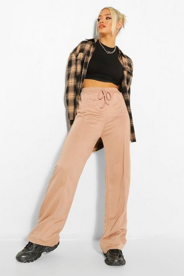 Stone Seam Detail Wide Leg Joggers