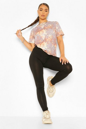 Rust orange Tonal Tie Dye Oversized T-shirt and Legging Co-ord