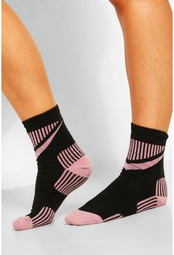 Black Sport Detailing Ankle Socks