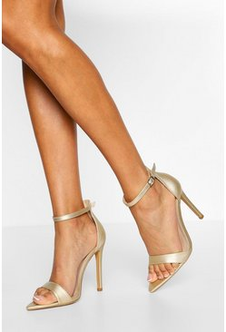 Gold metallic Wide Fit Pointed Toe Two Parts