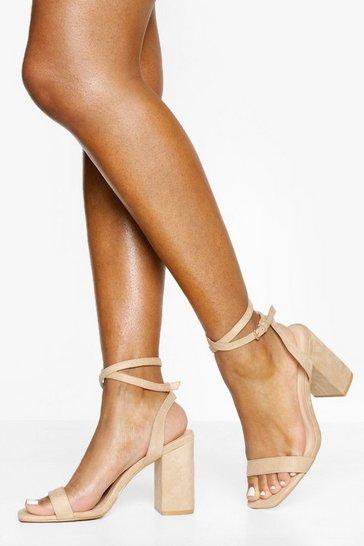 Nude Two Part Block Heels
