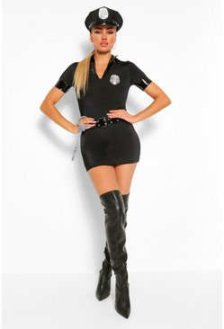 Black Halloween Sexy Police Officer Costume